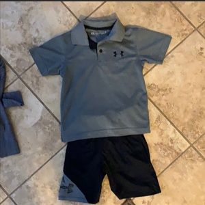 Boys Under Armour Shirt and Short set